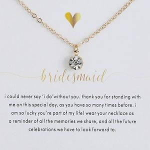 Jewelry - 'Bridesmaid' Necklace Round-cut Diamond Pendant